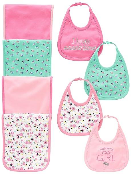 a92cfb8fd Amazon.com: Simple Joys by Carter's Baby Girls' 8-Pack Burp Cloth ...