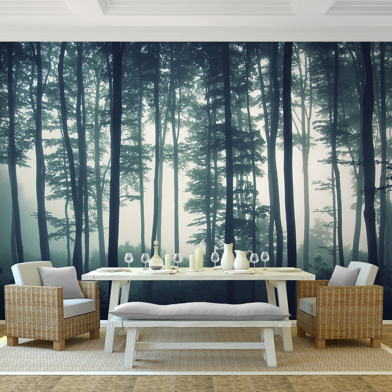 Vintage Fototapete \'Forest\' 352x250 cm - Premium Inneneinrichtung ...