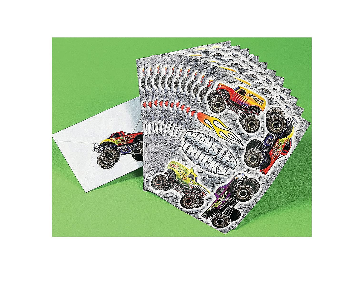 amazon com fun express monster truck stickers 12 pieces toys