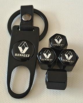 Renault negro coche neumático válvula de polvo Caps Set de ...