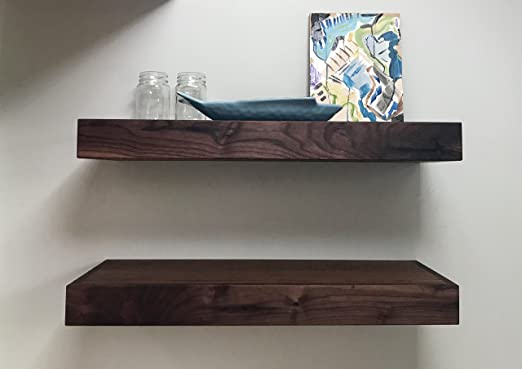 Image result for Walnut Floating Shelve