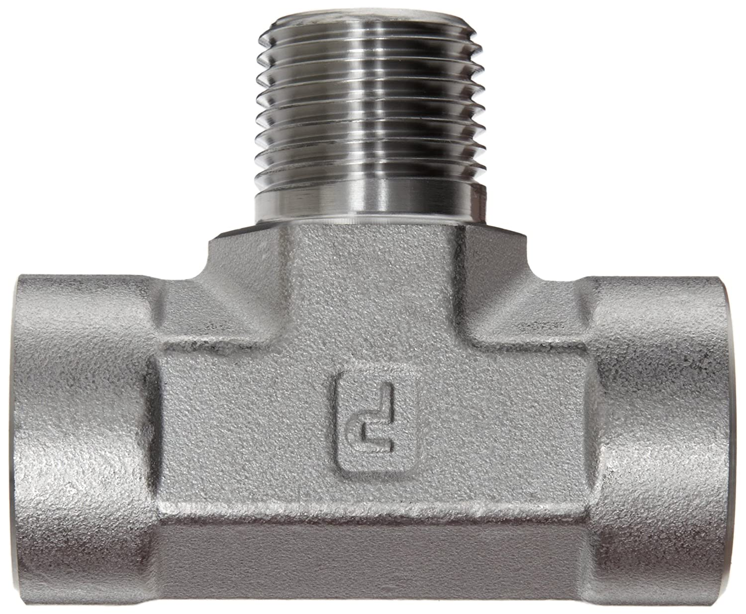 Parker Stainless Steel 316 Pipe Fitting Branch Tee 1//4 NPT Female x 1//4 NPT Male x 1//4 NPT Female 1//4 NPT Female x 1//4 NPT Male x 1//4 NPT Female Parker Hannifin 4-4-4 MBT-SS