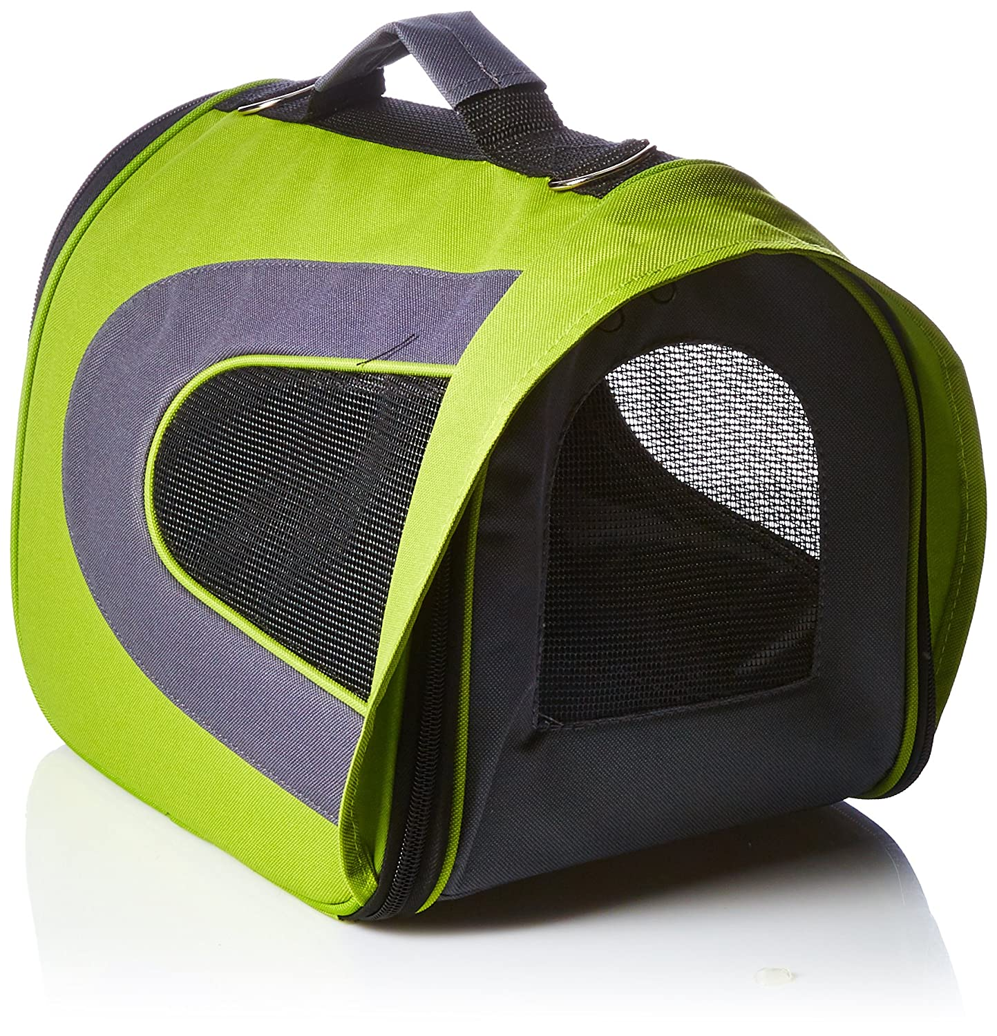 Iconic Pet Furrygo Universal Collapsible Airline Carrier, Lime Green, Small