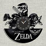"SofiClock The Legend of Zelda Vinyl Record Wall Clock 12"", The Best Gift for Decor (C) (C) (C)"