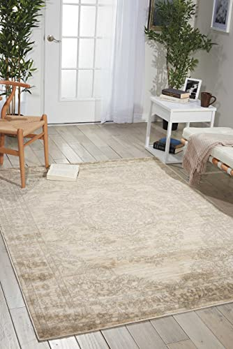 Nourison Euphoria Traditional Rustic Vintage Bone Area Rug 7 Feet 10 Inches by 10 Feet, 7 10 x 10