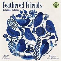 Feathered Friends 2019 Wall Calendar: Watercolor Bird Illustrations