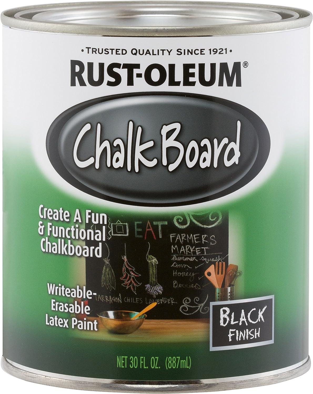 Amazon Com Rust Oleum Available 206540 Chalkboard Brush On Black 30 Ounce 30 Oz Home Improvement