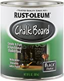 Rust-Oleum 206540 Specialty Chalkboard Brush-On Paint, 30 Oz, Flat Black