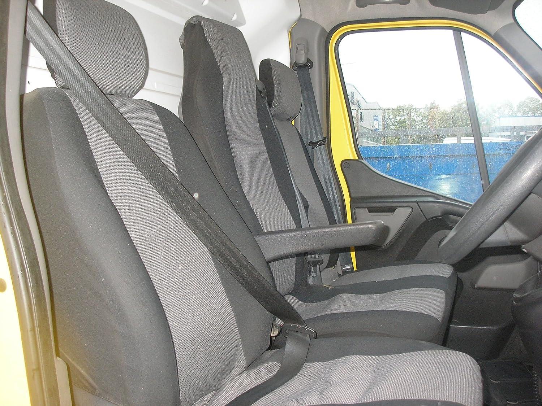 PREMIUM SU MISURA PER SEAT COVERS SET 2 IN 1 PER RENAULT MASTER 2010 NUOVO MOVANO VAUXHALL DAL 2010