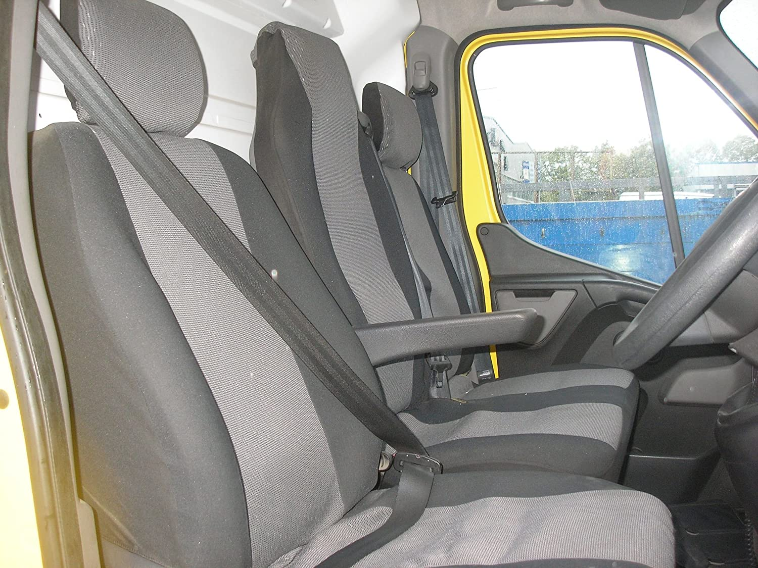 Black TAILORED//WATERPROOF//WASHABLE Renault Master Seat Cover-FRONT SET 2010