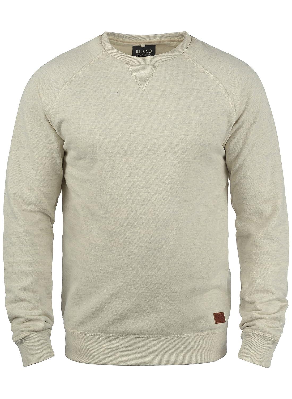 Blend Alex Pull en Sweat Sweat-Shirt pour Homme avec Encolure Rond Doublure Polaire