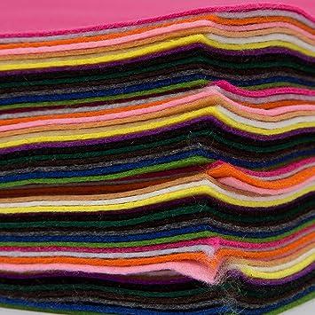 Bastelfilz 60 Filzplatten Dekorativer Filzstoff Din A4 Farblich