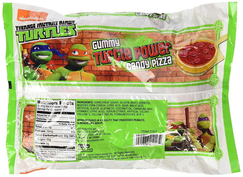Teenage Mutant Ninja Turtles Gummy Turtle Power Candy pizzas ...