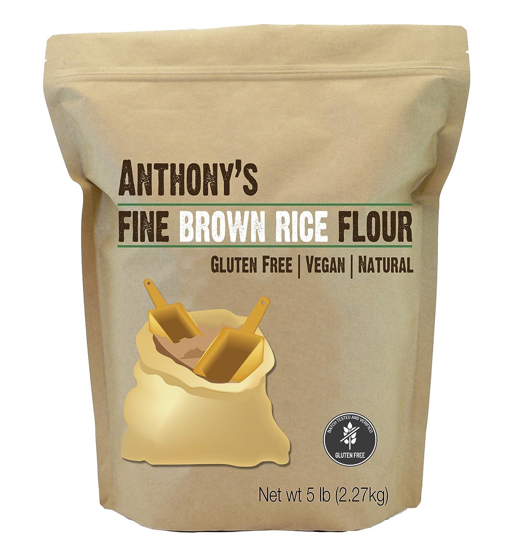 Harina marrón de arroz Anthony's, libre de GMO