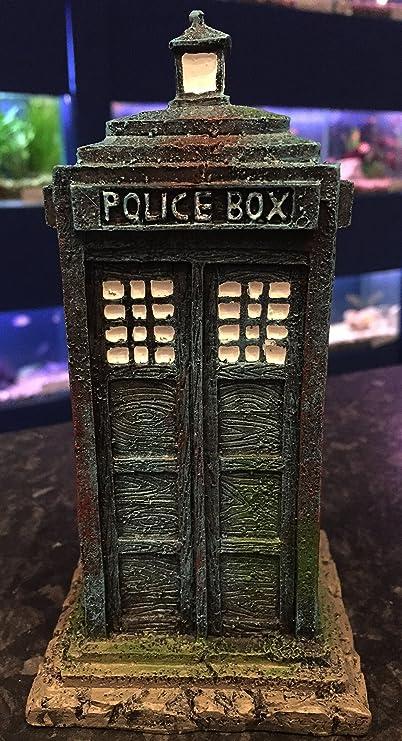 16 cm Dr Who Tardis caja de policía acuario pecera adorno: Amazon.es: Productos para mascotas