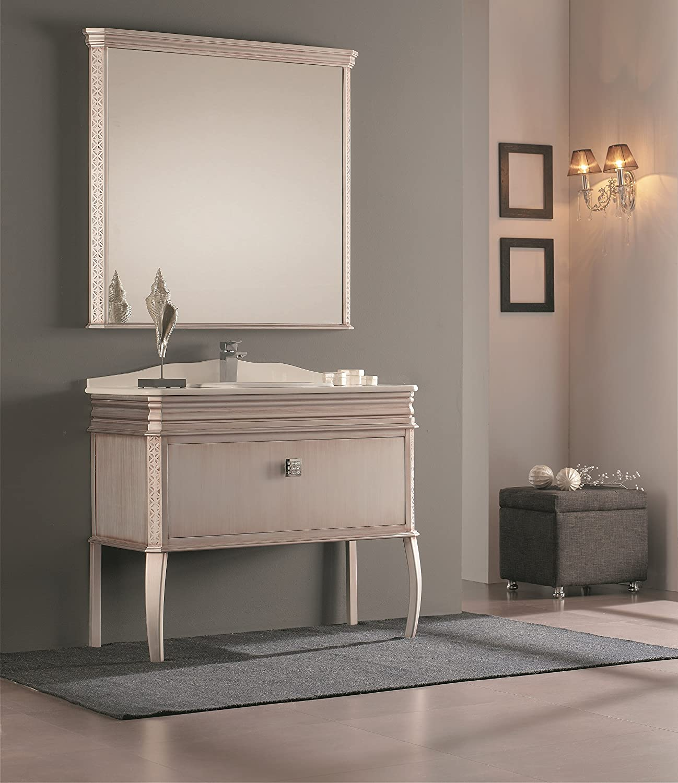 London 40 Inch Wide Bathroom Vanity Cabinet Set Single Sink