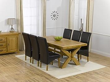 Avec Extensible Chêne En 6 Salle Table De Manger Ashley À Massif 5RLAj34q