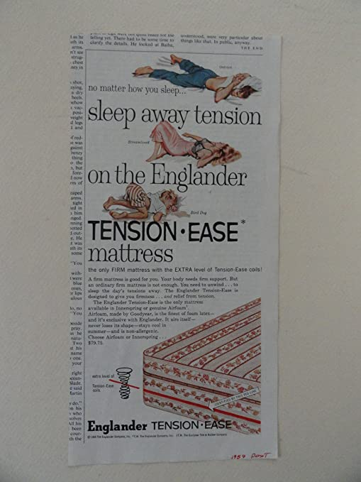 Amazon Com Englander Tension Ease Mattress Vintage 50 S Print Ad