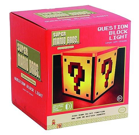 Super Mario Bros. PP2929NN Question Block Light, Plastic, Multi ...