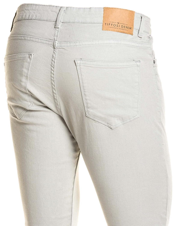 b1cc3d14f165 Tiffosi - Jean skinny homme gris clair - couleur  Gris - taille  FR 38 US  30  Amazon.fr  Vêtements et accessoires