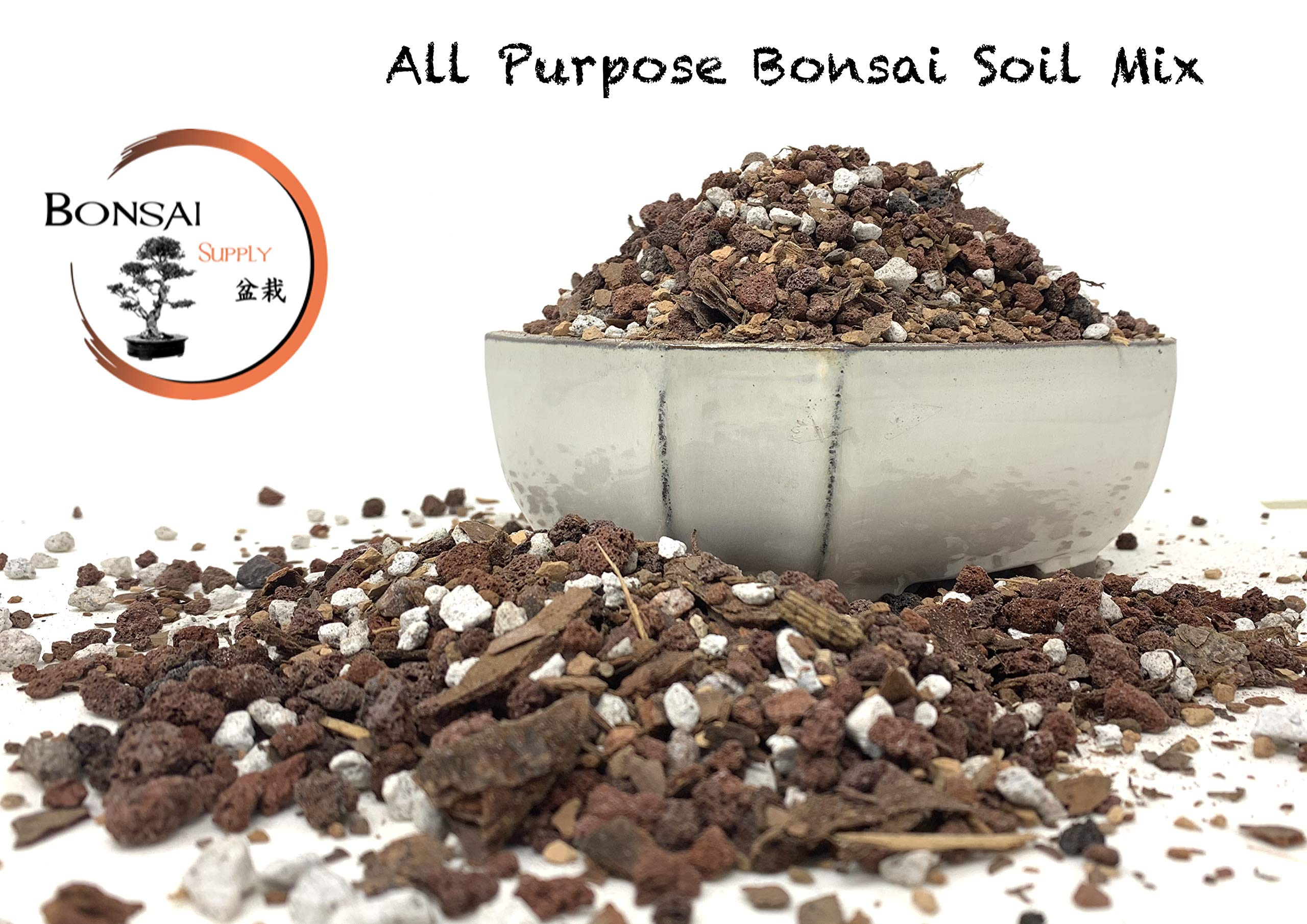 Bonsai Tree Soil by The Bonsai Supply, Super Sack! All Purpose Ready to Use Bonsai Potting Blend (5 Gallon = 20 Dry Quarts)- Pumice, Lava, Calcined Clay and Pine Bark Fines by The Bonsai Supply