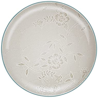 Noritake Colorwave Bloom Round Platter, 12-Inch, Turquoise