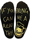 BRING ME SOCKS If you can read this bring me a beer Funny Ankle Socks - Perfect Gift for a Beer Lover