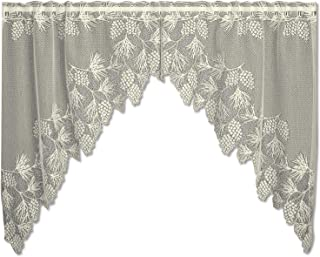 product image for Heritage Lace Woodland 68-Inch Wide by 40-Inch Drop Swag Pair, Ecru