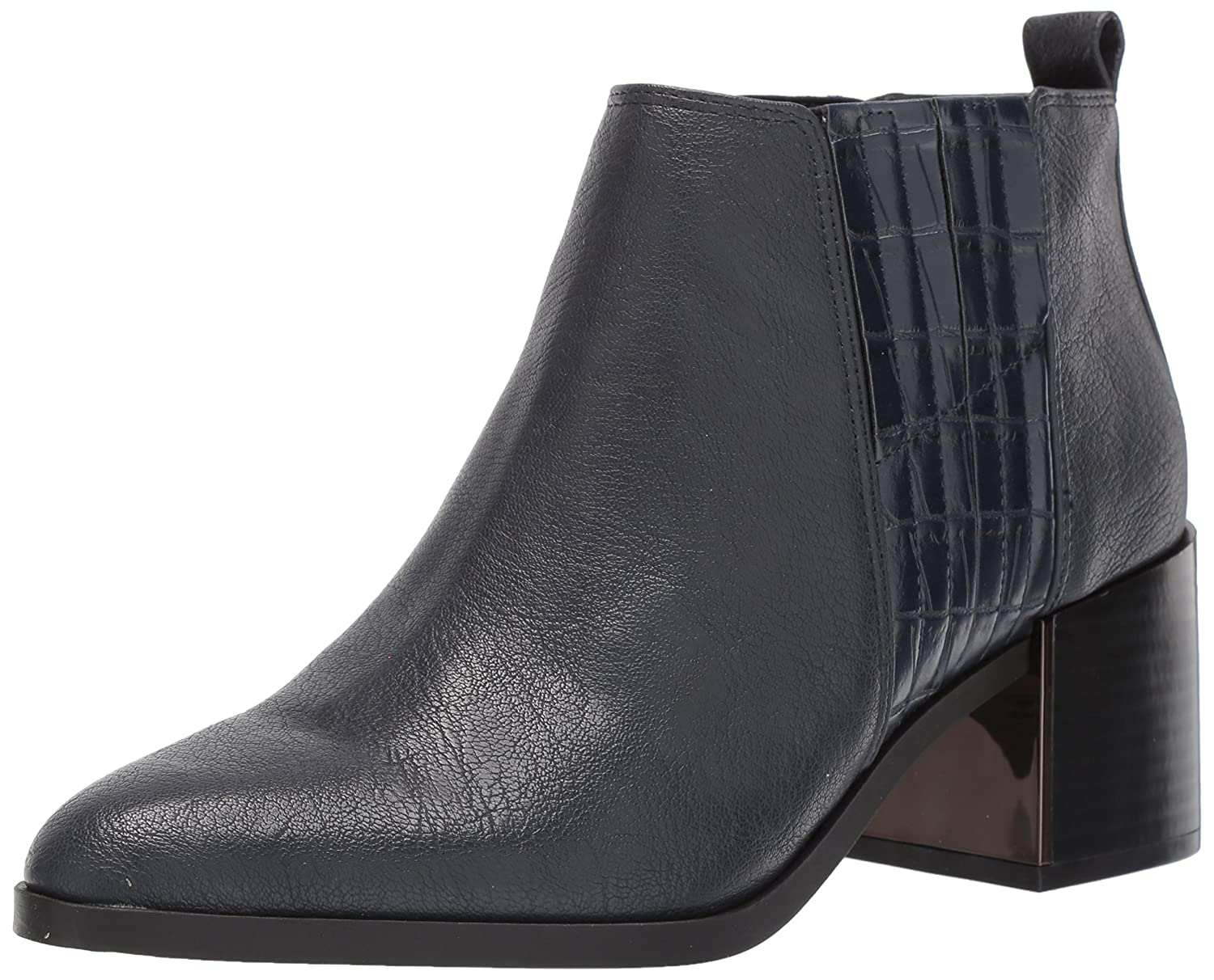 Nine West Women's Walburga Synthetic Ankle Boot B071HV16F6 9.5 B(M) US|Navy/Navy Synthetic