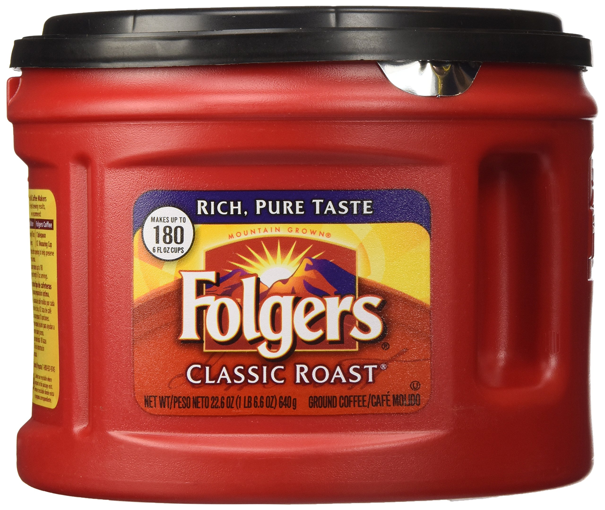 Folgers Classic Roast Ground Coffee, 22.6-Ounce (Pack of 3) by Folgers