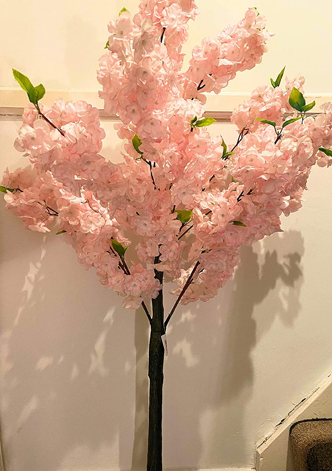 Cream Red Hot Plants Artificial Blossom Tree with Cream or Pink Cherry Blossom Flowers