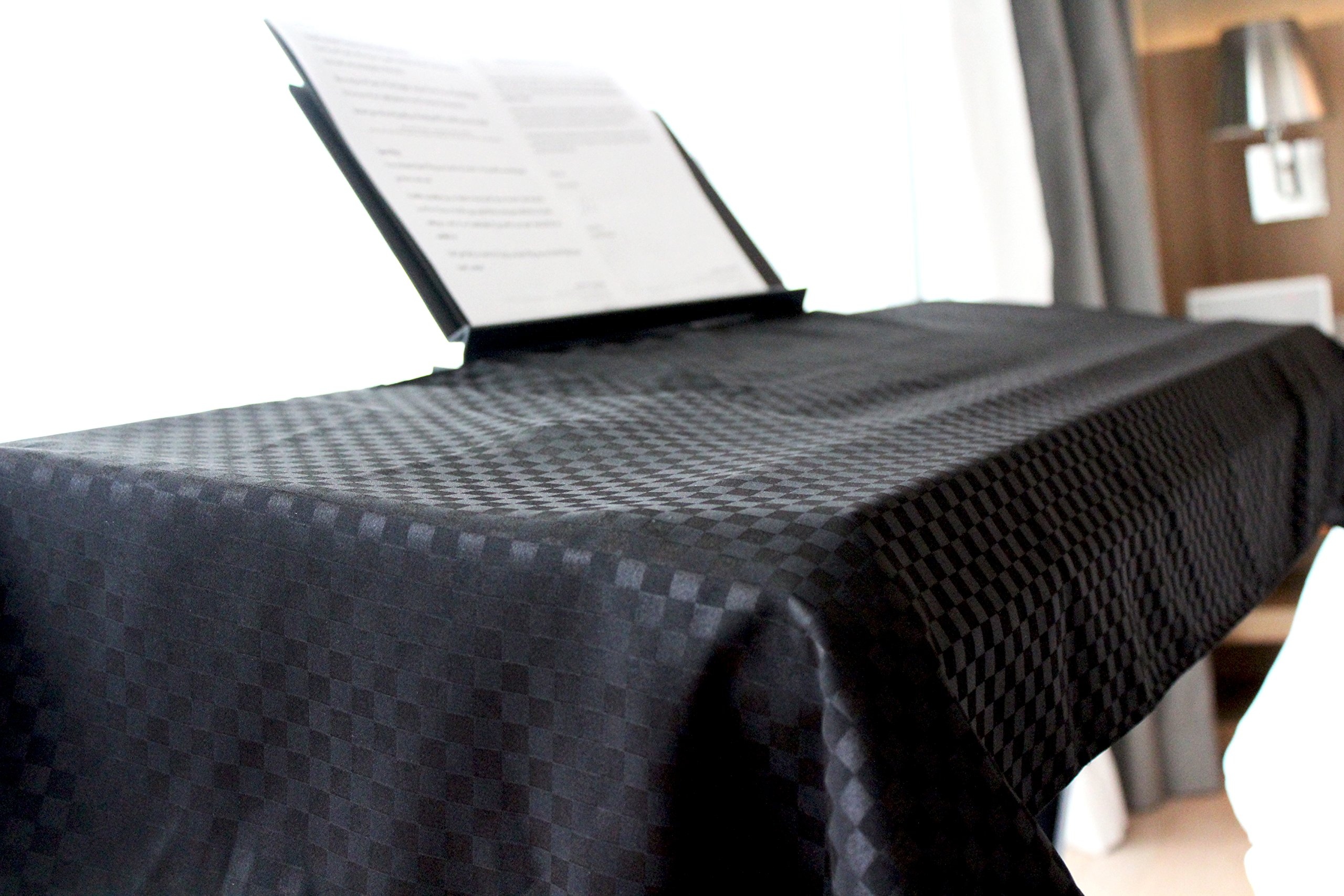 clairevoire universal keyboard digital piano dust cover ebony
