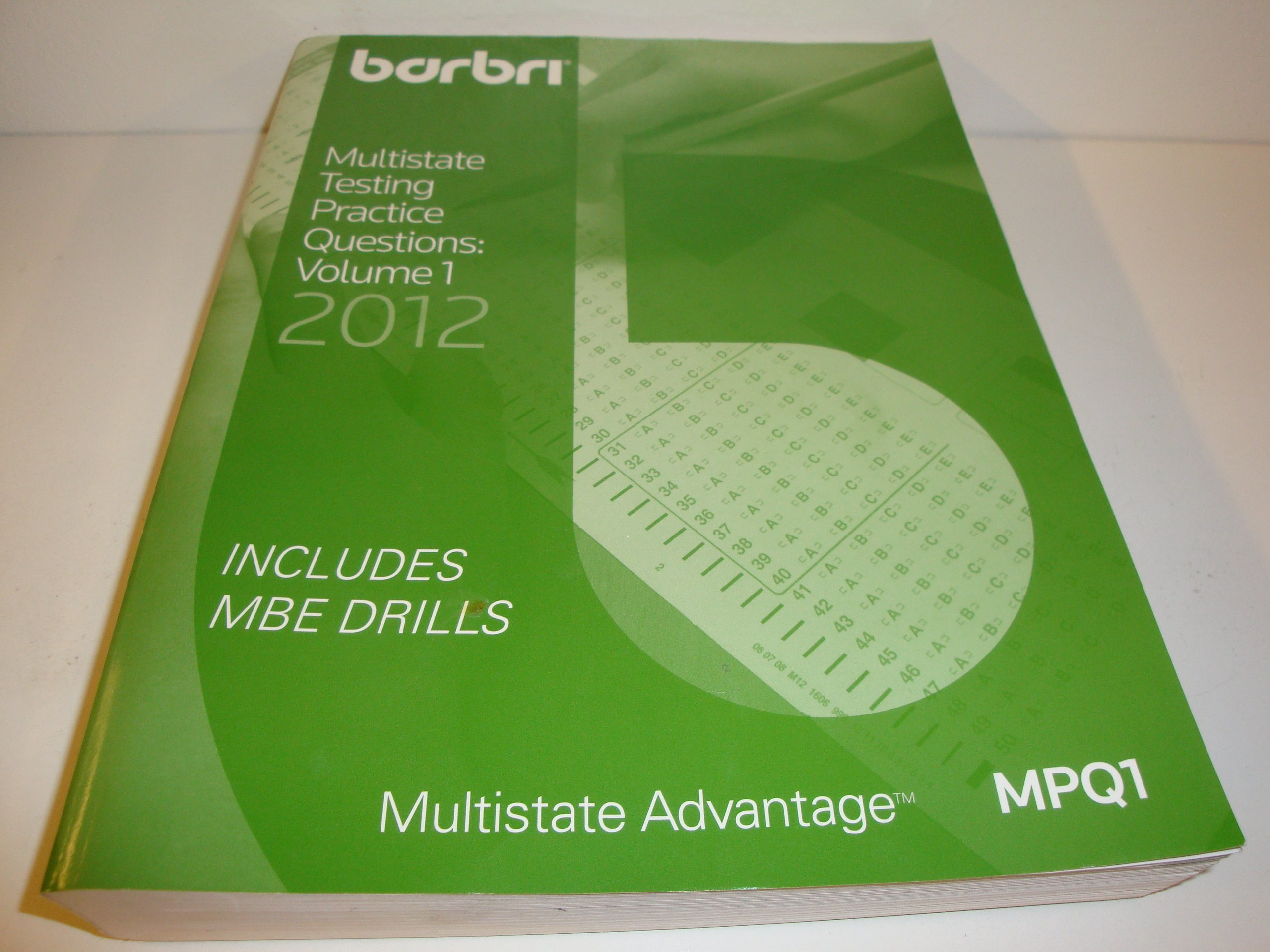 Barbri Multistate Testing Practice Questions Volume 1 Mutlistate Advantage Mpq1 2012 pdf epub