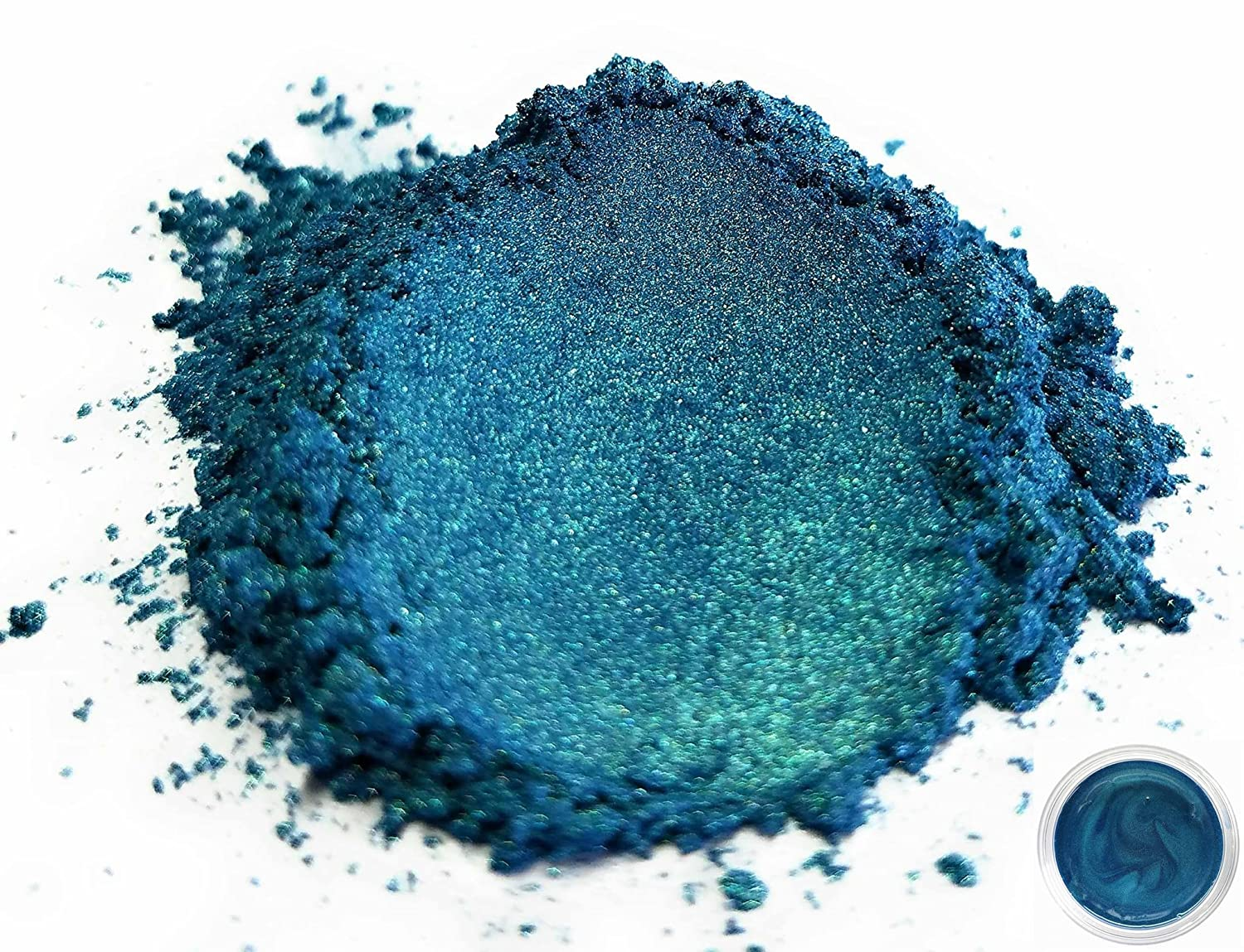 "Eye Candy Mica Powder Pigment ""Macaw Green Blue"" (50g) Multipurpose DIY Arts and Crafts Additive 
