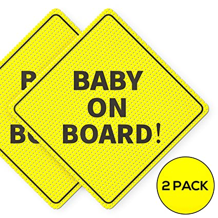 Baby on Board Child Safety includes 2 suction cup for your Car Vechicle Signs
