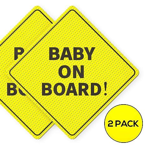 Amazon.com: Pegatina para bebé a bordo – Esencial para ...