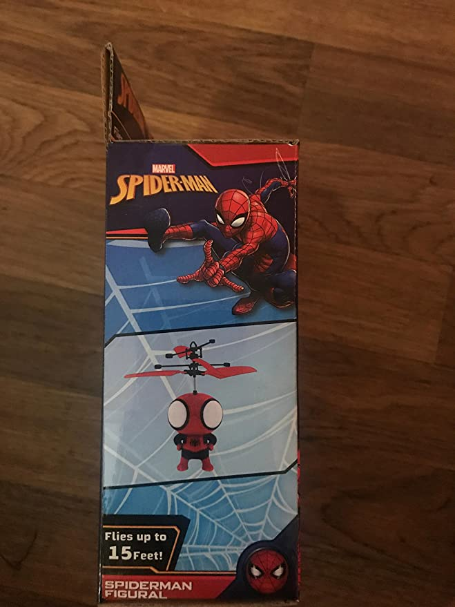 Amazon.com: Marvel Spiderman Flying Copter - Fun Hand Control ...