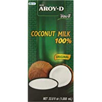 AROY-D 100% Coconut Milk - 33.8 oz packages (3-pack)