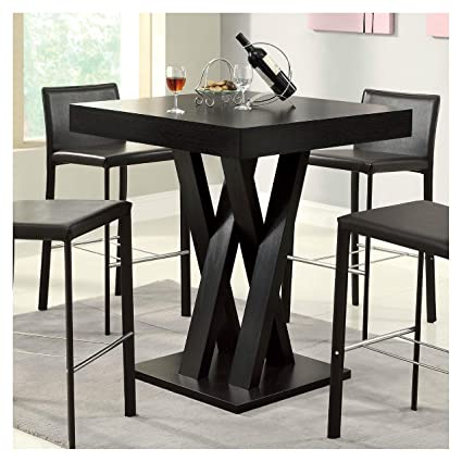 Amazon Com Dining Table Modern 40 Inch High Square Dining