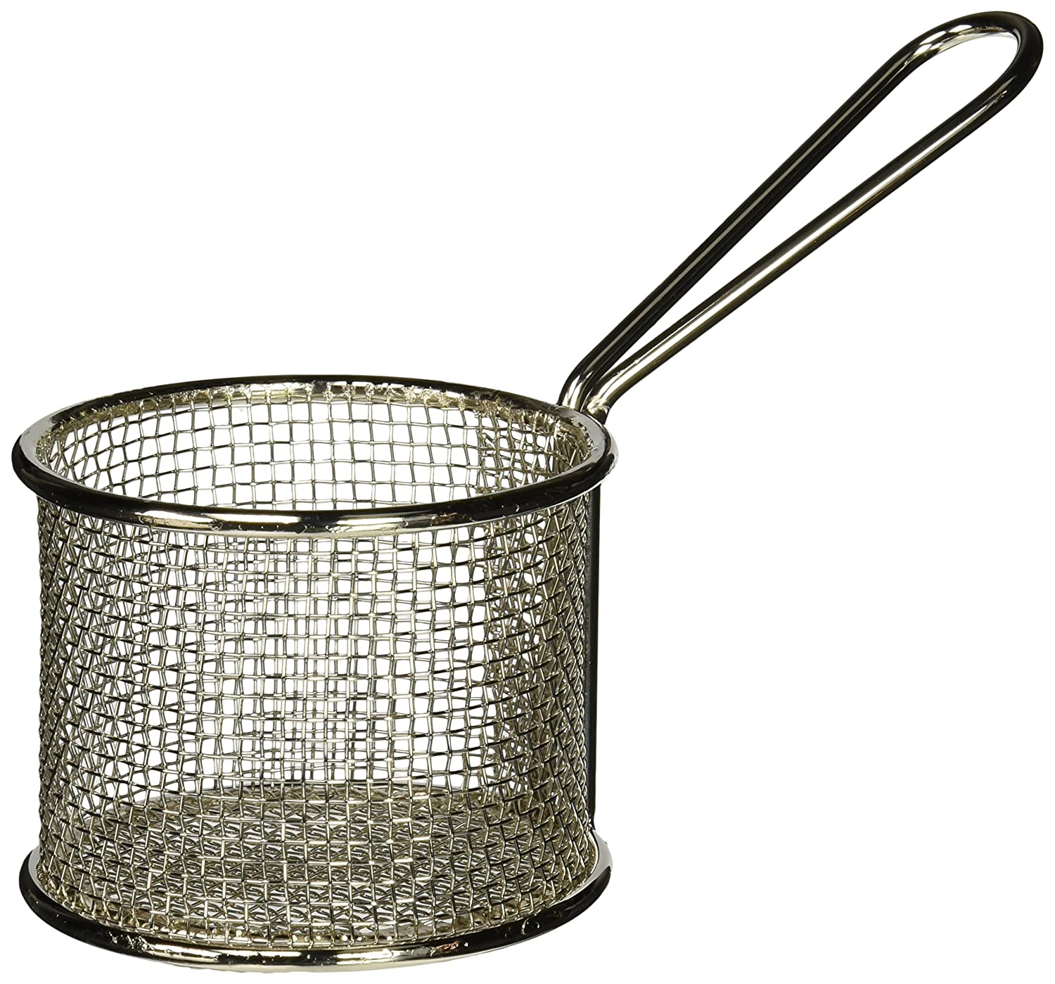 "American Metalcraft FRYR375 Fry Baskets and Cones, 3.75"" Diameter 2,75"" Height, Silver"