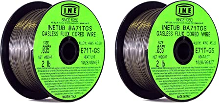 INETUB BA71TGS .035-Inch on 2-Pound Spool Carbon Steel Gasless Flux Cored...