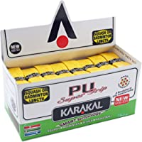 Karakal Super PU Grips - Squash - Badminton - Yellow - (24 Grips)