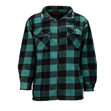 4651a5b7c97f TrailCrest Men's Heavy Fleece Sherpa Lined Shirt Jacket, Warm Full Zip  Outdoorsman Buffalo Plaid at Amazon Men's Clothing store: