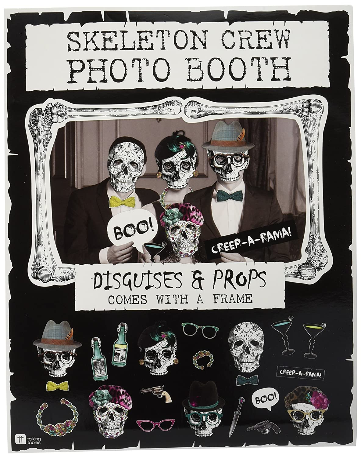 Talking Tables Halloween Photo Booth Props   Paper, 22 Disguises