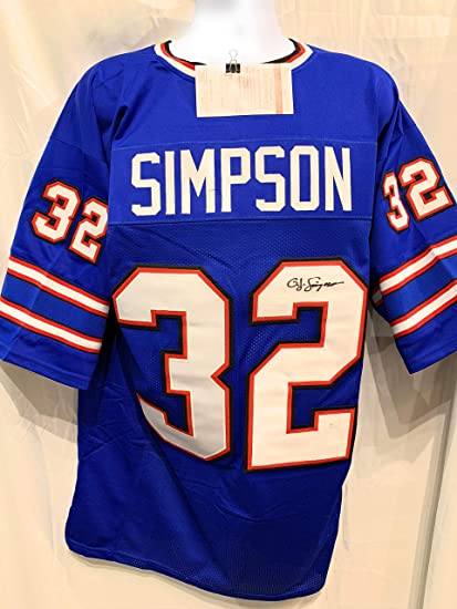 Image Unavailable. Image not available for. Color  OJ Simpson Buffalo Bills  Signed Autograph Blue Custom Jersey JSA Witnessed Certified 8ff01630f