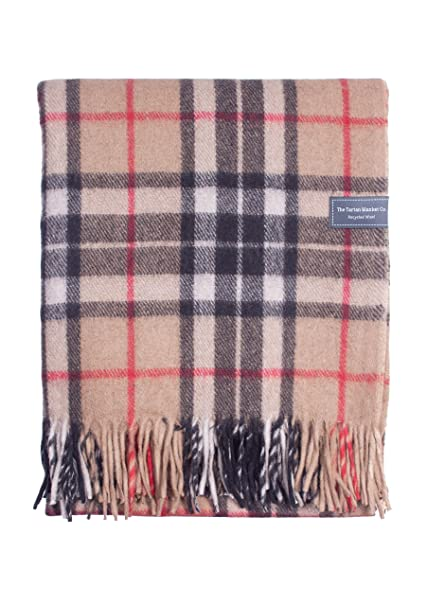 The Tartan Blanket Co. Recycled Wool Knee Blanket Thomson Camel Tartan  30 quot  ... 4f304dcd1