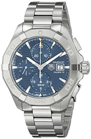 san francisco daaa2 f9662 Tag Heuer Men's CAY2112.BA0925 300 Aquaracer Blue Dial Stainless Steel Watch