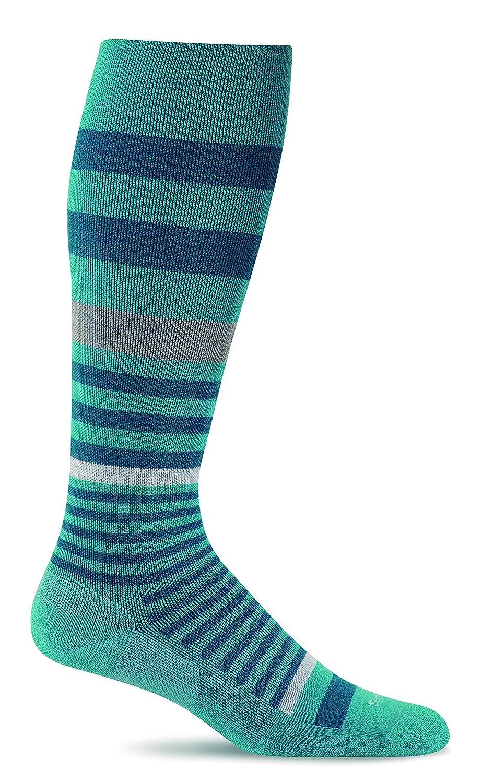 Sockwell Womens Orbital Stripe Graduated Compression Socks