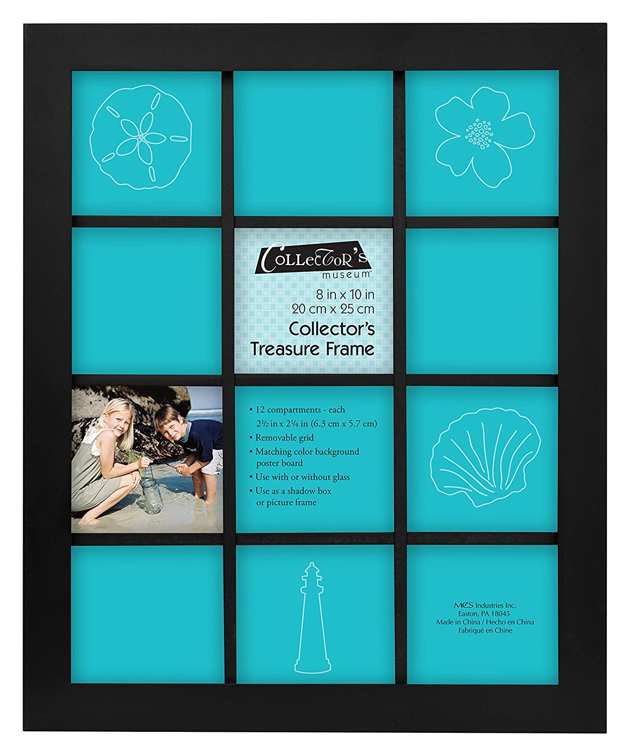 MCS Collectors Treasure Frame 8x10 with 12 Compartments 52740