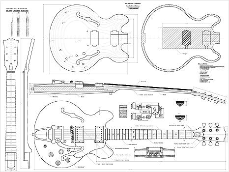 Gibson cs356 Jazz Archtop guitarra Planes – Escala completa diseño ...